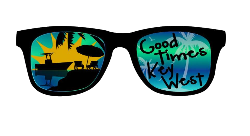 sunglasses logo for goodtimes key west